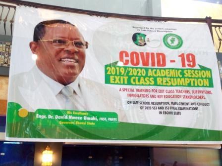 Resumption: Ebonyi trains 4000 teachers, 466 health workers on covid-19 prevention
